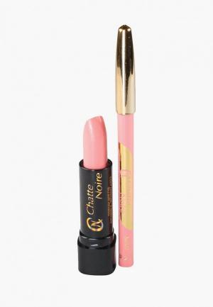 Набор для макияжа губ Chatte Noire Карандаш +Помада с №6, 5,75. Цвет: розовый