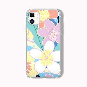 Чехол для телефона с цветочным принтом SHEIN. Цвет: многоцветный
