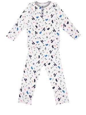 Пижама хлопковая для мальчика La Perla. Цвет: разноцветный