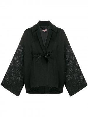 Фактурная куртка-кимоно 1990-х годов Romeo Gigli Pre-Owned. Цвет: черный