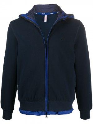Многослойная куртка с капюшоном Sun 68. Цвет: синий
