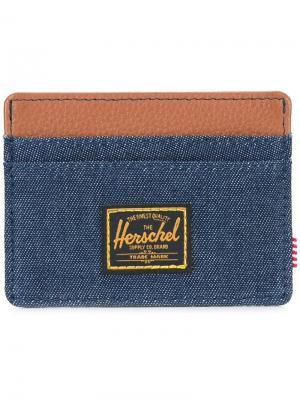Джинсовая визитница с логотипом Herschel Supply Co.. Цвет: синий