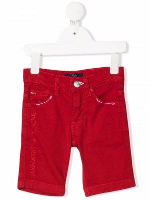 Шорты с вышитым логотипом Harmont & Blaine Junior. Цвет: красный