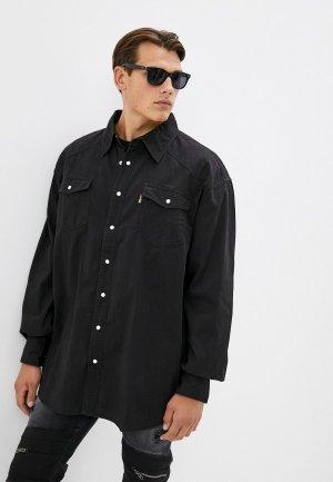 Рубашка джинсовая Duke Jeans Black. Цвет: черный