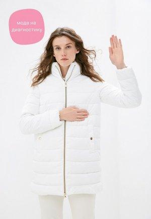 Куртка утепленная Geox. Цвет: белый
