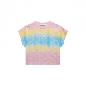 Хлопковая футболка Alberta Ferretti junior. Цвет: розовый