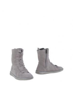 Полусапоги и высокие ботинки DUDE. Цвет: серый
