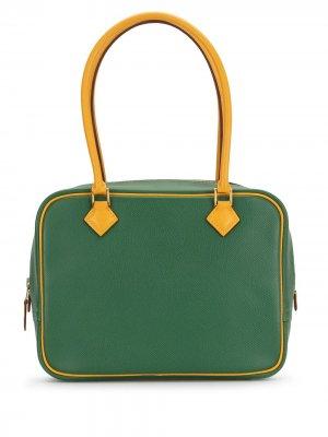 Сумка-тоут Plume 20 2001-го года Hermès. Цвет: зеленый