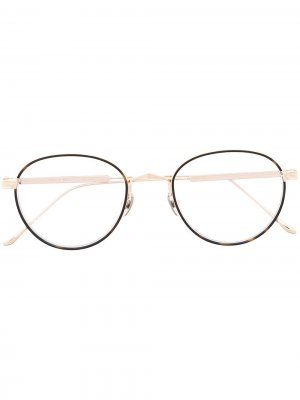 Очки в круглой оправе Cartier Eyewear. Цвет: золотистый