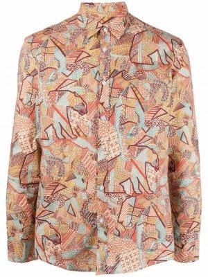 Рубашка с принтом Grey Daniele Alessandrini. Цвет: оранжевый