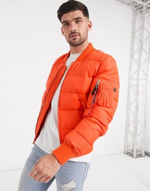 Оранжевая нейлоновая куртка -Оранжевый Alpha Industries