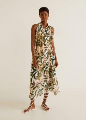 Длинное платье-рубашка - Palmi-i Mango. Цвет: грязно-белый