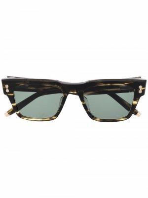 Солнцезащитные очки Columba черепаховой расцветки Akoni. Цвет: коричневый