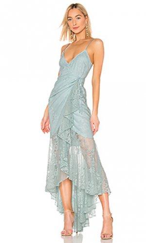Платье atienne Michael Costello. Цвет: нежно-голубой