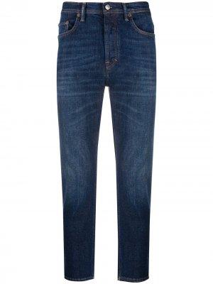 Укороченные джинсы прямого кроя Acne Studios. Цвет: синий