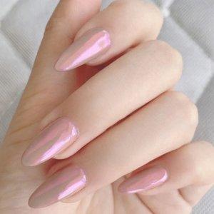 24шт накладные ногти и 1 лист двухсторонняя лента SHEIN. Цвет: розовые