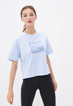 Футболка Anta Lifestyle ORIGINAL. Цвет: голубой