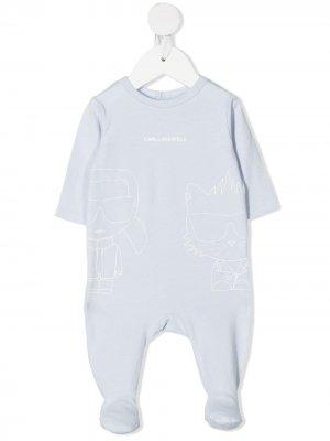 Пижама с логотипом Karl Lagerfeld Kids. Цвет: синий