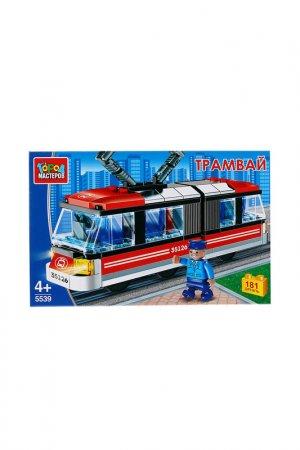 Трамвай с гармошкой и фигуркой Город мастеров. Цвет: красный