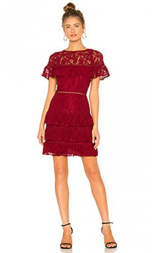 Платье aphrodite BB Dakota. Цвет: красный