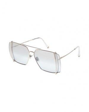Солнечные очки RETROSUPERFUTURE. Цвет: серебристый