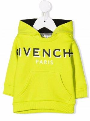 Logo-print cotton hoodie Givenchy Kids. Цвет: зеленый