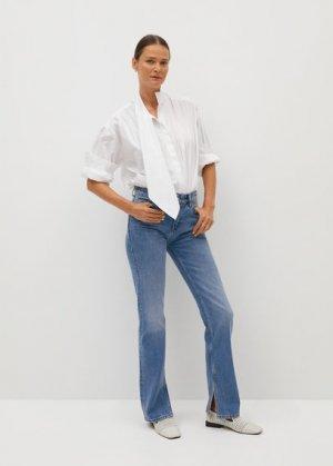 Прямые джинсы с разрезом - Bonny-i Mango. Цвет: синий средний