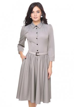 Платье Grey Cat MP002XW1ATQI. Цвет: серый