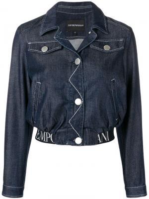 Укороченная джинсовая куртка Emporio Armani