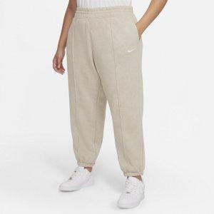 Женские флисовые брюки с эффектом выцветания Sportswear Essential Collection (большие размеры) - Коричневый Nike