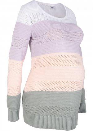 Пуловер для беременных bonprix. Цвет: белый