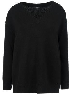 Пуловер свободного силуэта GUCCI. Цвет: черный