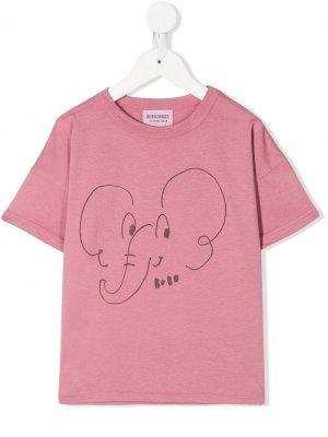 Футболка с принтом Elephant Bobo Choses. Цвет: розовый