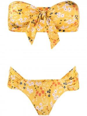 LAutre Chose купальник с цветочным принтом L'Autre. Цвет: желтый