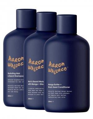 Набор из 3 средств по уходу за волосами 750 мл-Бесцветный Aaron Wallace
