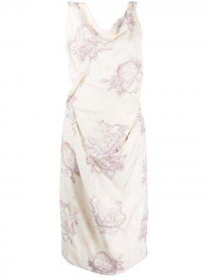 Платье миди с принтом Vivienne Westwood Pre-Owned. Цвет: нейтральные цвета