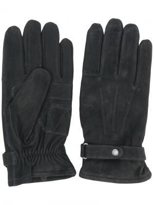 Перчатки с простроченными деталями Barbour. Цвет: черный