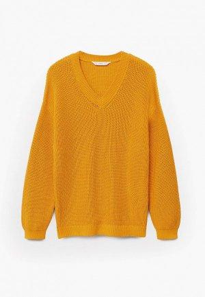 Пуловер Mango Kids - LAGOS. Цвет: желтый