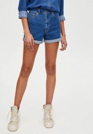 Шорты джинсовые Pull&Bear. Цвет: синий