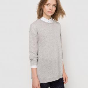 Пуловер из кашемира, свободный покрой La Redoute Collections. Цвет: светло-розовый,светло-серый меланж,черный
