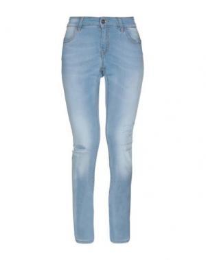Джинсовые брюки MELTIN POT. Цвет: синий