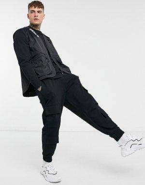 Черная куртка в стиле милитари Adidas Originals Adventure-Черный