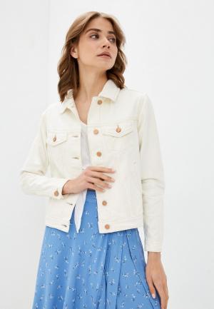 Куртка джинсовая Brave Soul. Цвет: белый