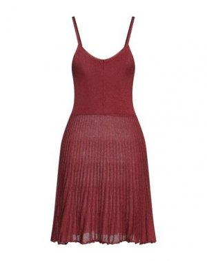 Короткое платье BRAND UNIQUE. Цвет: красно-коричневый