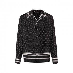Шелковая сорочка Dolce & Gabbana. Цвет: чёрно-белый
