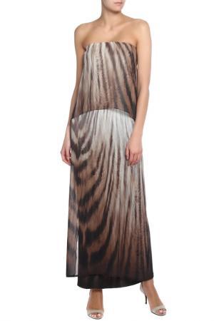 Платье Apart. Цвет: кремовый, многоцветный