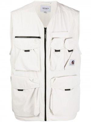 Жилет Hayes с накладными карманами Carhartt WIP. Цвет: серый