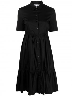 Платье-рубашка на пуговицах Patrizia Pepe. Цвет: черный