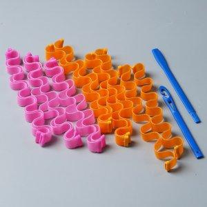 12шт бигуди в форме волны SHEIN. Цвет: многоцветный