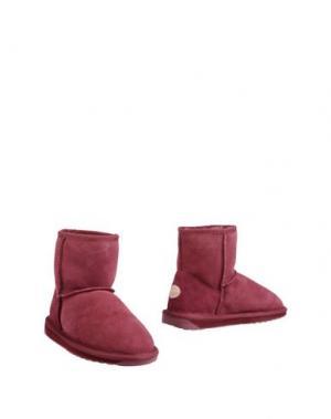 Полусапоги и высокие ботинки EMU. Цвет: красно-коричневый